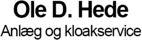 Ole D. Hede Anlæg og kloakservice logo
