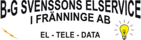 B-G Svenssons Elservice logo