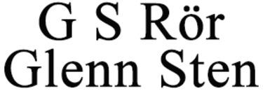 G S Rör Glenn Sten logo