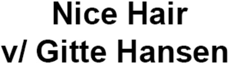 Nice Hair v/ Gitte Hansen logo