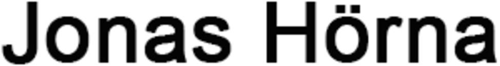 Jonas Hörna logo