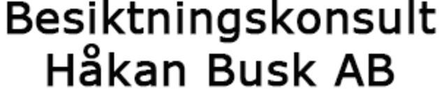 Besiktningskonsult Håkan Busk AB logo