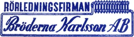 Rörledningsfirman Bröderna Karlsson AB logo