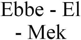 Ebbe - El - Mek logo