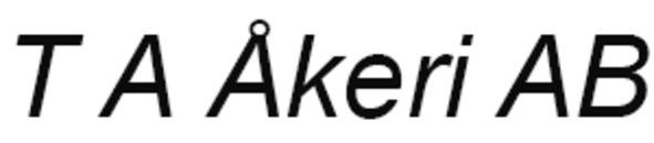 T A Åkeri AB logo