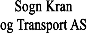 Sogn Kran og Transport AS logo