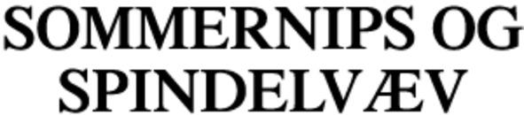 Sommernips og spindelvæv logo
