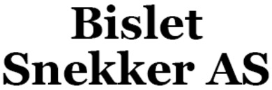 Bislet Snekker AS logo