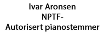 Pianostemmer Ivar Aronsen logo