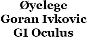 Øyelege Goran Ivkovic GI Oculus logo