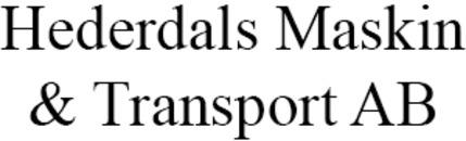 Hederdals Maskin & Transport AB logo