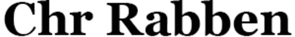 Chr Rabben logo