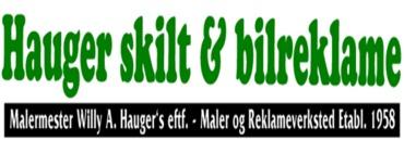 Hauger Skilt & Bilreklame logo