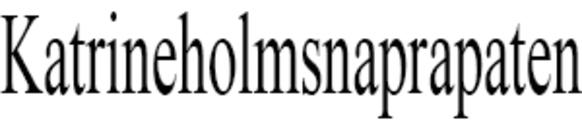 Katrineholmsnaprapaten AB Pernilla Karlsson logo