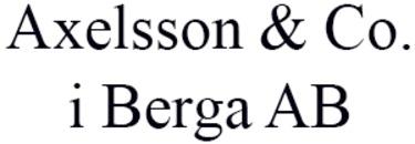 Axelsson & Co. i Berga AB logo