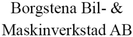 Borgstena Bil- & Maskinverkstad AB logo