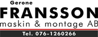 Gerone Fransson Maskin & Montage AB logo