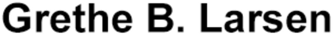 Grethe B. Larsen logo