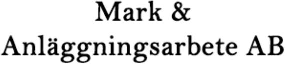 Mark & Anläggningsarbete AB logo