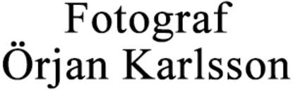 Fotograf Örjan Karlsson logo