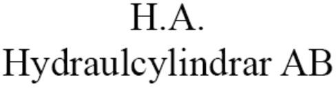 H A Hydraulcylindrar AB logo