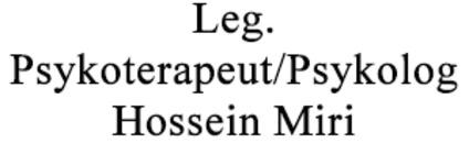 Leg. Psykoterapeut/Psykolog Hossein Miri logo
