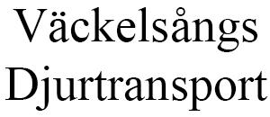 Väckelsångs Djurtransport logo