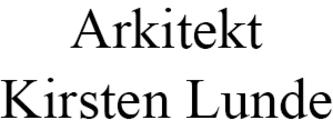 Arkitekt Kirsten Lunde logo