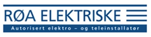 Røa Elektriske AS logo