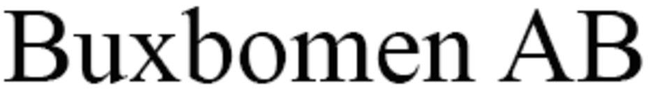 Buxbomen AB logo