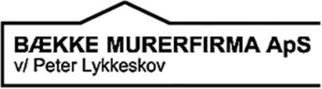 Bække Murerfirma ApS logo