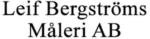 Bergströms Måleri AB, Leif logo