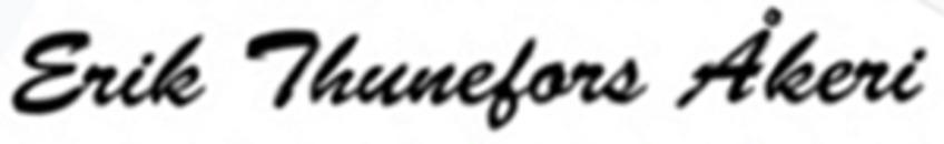 Erik Thunefors Åkeri logo