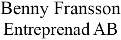 Benny Fransson Entreprenad AB logo