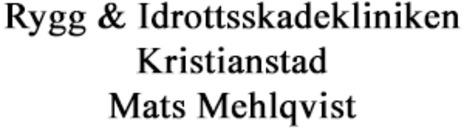 Rygg & Idrottsskadekliniken Kristianstad - Mats Mehlqvist logo
