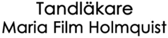 Tandläkare Maria Film Holmquist logo