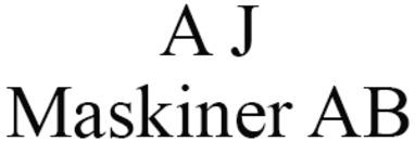 A J Maskiner AB logo