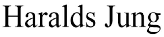 Haralds Jung logo