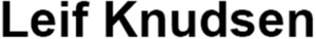 Leif Knudsen logo