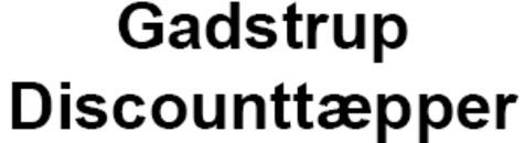 Gadstrup Discounttæpper logo