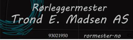 Rørleggermester Trond E. Madsen AS logo