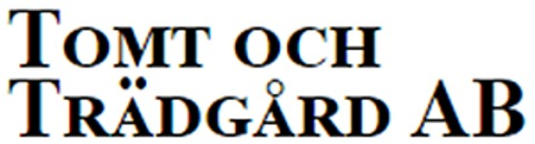 Hässelby Tomt- o. Trädgårdsservice AB logo
