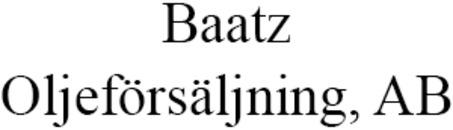 Baatz Oljeförsäljning AB logo