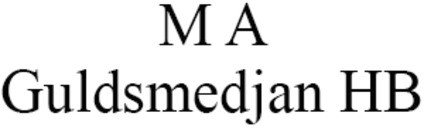 M A Guldsmedjan HB logo