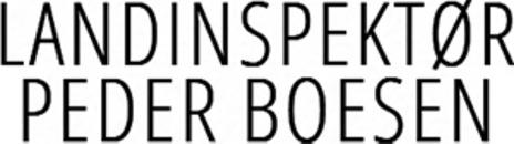 Landinspektør - Peder Boesen logo