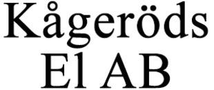 Kågeröds El AB logo