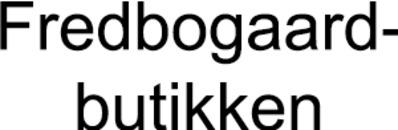 Fredbogaard-butikken i Gilleleje logo