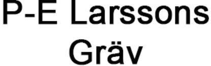 P-E Larssons Gräv logo