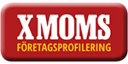 X MOMS Företagsprofilering AB logo