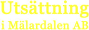 Utsättning i Mälardalen AB logo
